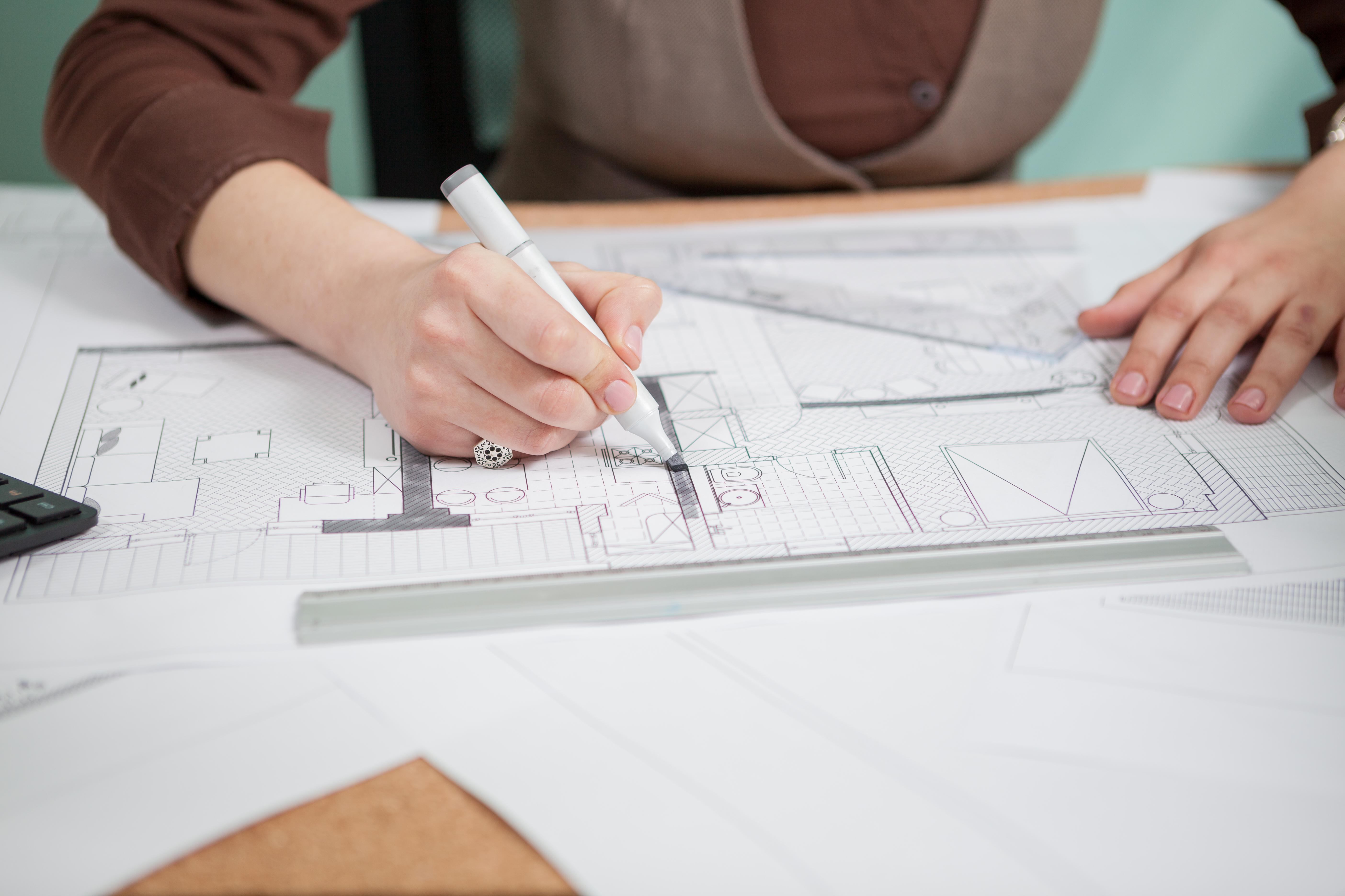 caneta para arquitetura